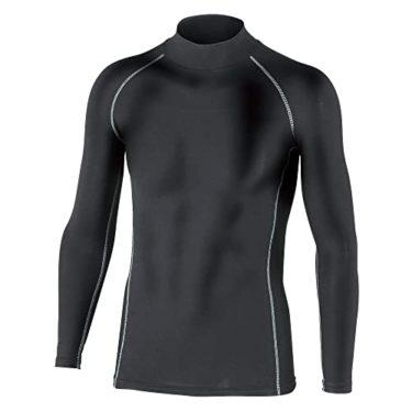美しすぎるおたふく手袋 ボディータフネス 保温 コンプレッション パワーストレッチ 長袖 ハイネックシャツ JW-170 ブラック M