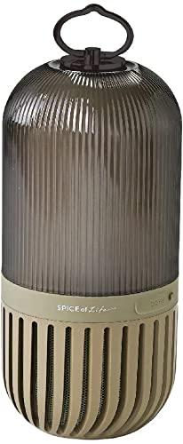 基礎から学べるSPICE OF LIFE(スパイス) ゆらぎカプセルスピーカー カーキ Bluetooth 防塵 防水 LED 充電式 CS2020KH