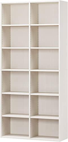 逆転の発想から生まれた白井産業ラック 本棚 ホワイト 白木目 約 幅90 奥行30 高さ180 cm (AMZ-1890WH)